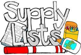 LeVasseur Supply List